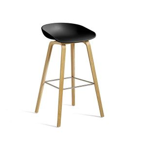 ABOUT A STOOL / AAS32 CLEAR LACQUERED OAK HIGH ブラック