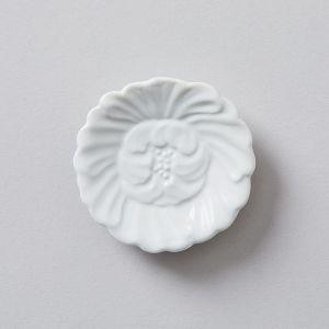 豆小皿 椿 白  堀江陶器×TODAY'S SPECIAL
