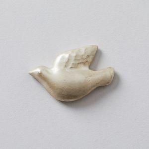 鳥の箸置き 銀  / 堀江陶器×TODAY'S SPECIAL