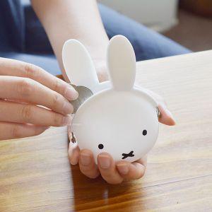 mimi POCHIBI miffy がま口ポーチ ホワイト