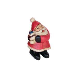 木彫りのオブジェ / Hug Santa S