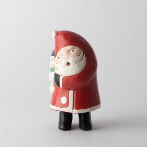 木彫りのオブジェ / Hug Santa M