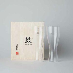 松徳硝子 うすはり 鼓 ビールグラス(ピルスナー)セット