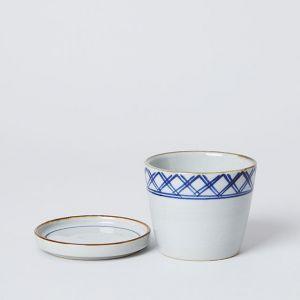 藍窯 × TODAY'S SPECIAL 格子 猪口と薬味皿