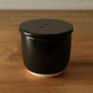 陶の飯びつ こぶり 黒