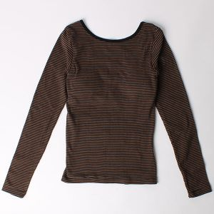 Robert P.Miller カップ付 ロングスリーブTシャツ ブラウン