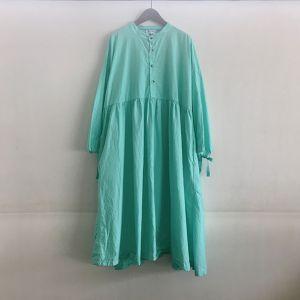 Gatherd Dress グリーン / Yarmo