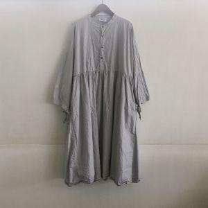 Gatherd Dress グレー / Yarmo