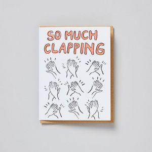 メッセージカード CONGRATS clapping / egg press