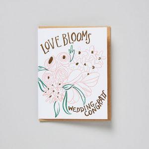 メッセージカード WEDDING love blooms / egg press