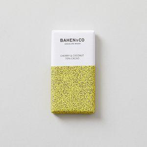 70%ダークチョコレートミニバー チェリー&ココナッツ BAHEN & Co./バーヘン&コー