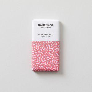 70%ダークチョコレートミニバー ラズベリー&ローズ BAHEN & Co./バーヘン&コー