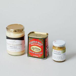 【3点SET】マヨネーズと粒マスタードとコンビーフのセット
