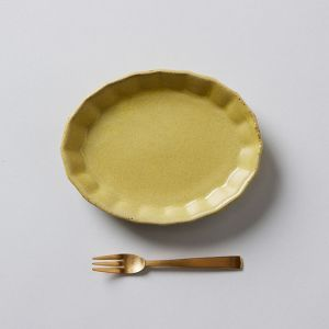 【GIFT SET】MINI PLATE & FORK マスタード