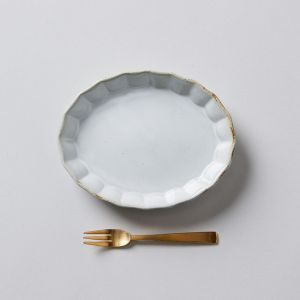 【GIFT SET】MINI PLATE & FORK ホワイト