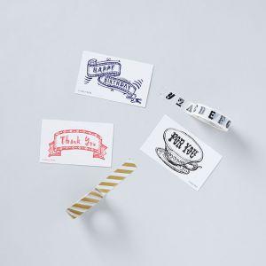 【5点SET】ミニカード&マスキングテープ