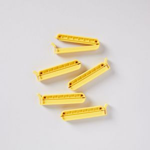 【ネコポス対応】【5点SET】CLIP-it 70mm イエロー / WeLoc