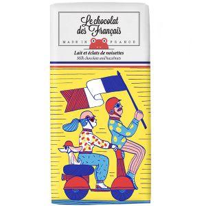 Le chocolat des Francais / ル・ショコラ・デ・フランセ ミルクヘーゼルナッツ