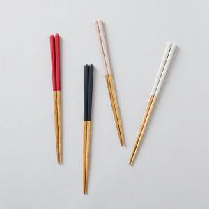 【ネコポス対応】【4本SET】栗の塗り箸 / かのりゅう×TODAY'S SPECIAL
