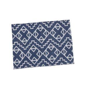 TAUKO/タウコ イージーケアラグ 45×70 幾何学ブルー