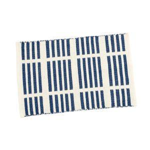 TAUKO/タウコ イージーケアラグ 45×70 ラインブルー