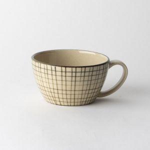 Folk design スープカップ 格子柄