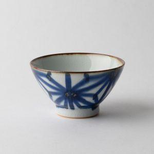 翔芳窯 麻の葉紋 飯碗
