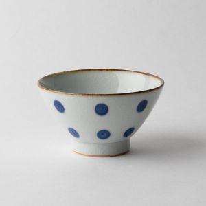 翔芳窯 水玉紋 飯碗