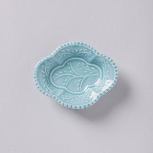 木瓜手塩皿 青磁 / 与山窯