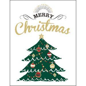 クリスマスレタープレスミニカード ツリー