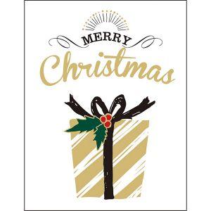 クリスマスレタープレスミニカード プレゼント