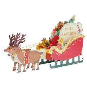 クリスマストイポップアップカード トナカイ