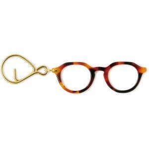 メガネキーリング キャメル