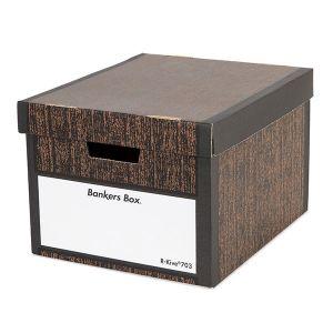 【オンライン限定】バンカーズボックス ウッドグレイン 703sボックス 3個セット