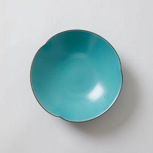 一誠陶器 × TODAY'S SPECIAL 三方なぶり 七寸鉢 緑