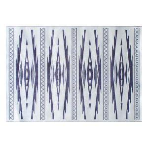 【オンライン限定】ムーミエ イカット ラグマット 100×140 アイボリー