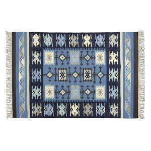インド カプラ ラグマット 130×190 ブルー