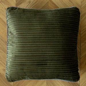 リスカル コーデュロイクッション 45×45 カーキ