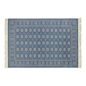 フェアリーラグ 100×140 ブルー