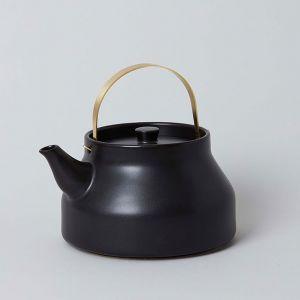 かもしか道具店 陶のやかん ブラック