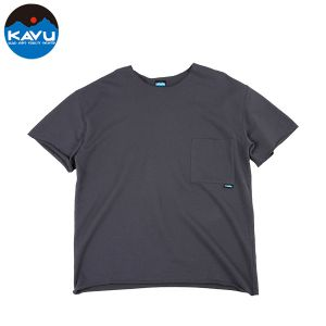 KAVU/カブー ショートスリーブTシャツ ロック M チャコール