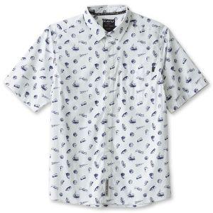 KAVU/カブー フェスタルスキー ショートスリーブシャツ M ブループリント