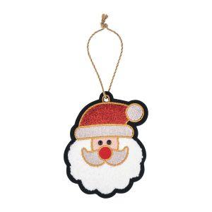 クリスマス 刺繍オーナメント サンタ