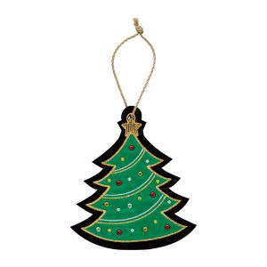 クリスマス 刺繍オーナメント ツリー