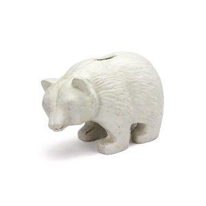 IRON BEAR BANK / くまの貯金箱 ホワイト
