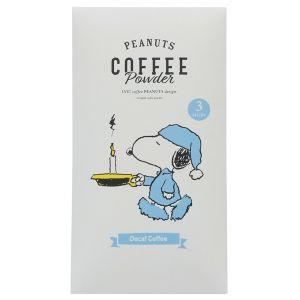 スヌーピー コーヒースティック 3本入 デカフェ カード付