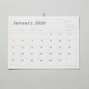カレンダー2020 罫線あり ANDO GALLERY/アンドーギャラリー