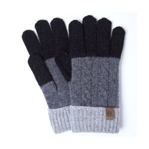 iTouch Gloves ケーブルブロック ブラック×ダークグレー