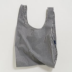 BAGGU Standard Bag ブラック×ホワイト
