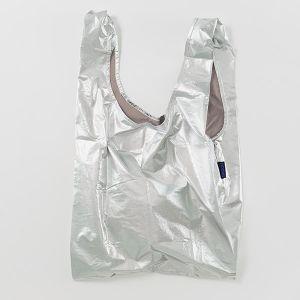 BAGGU Standard Bag シルバーメタリック